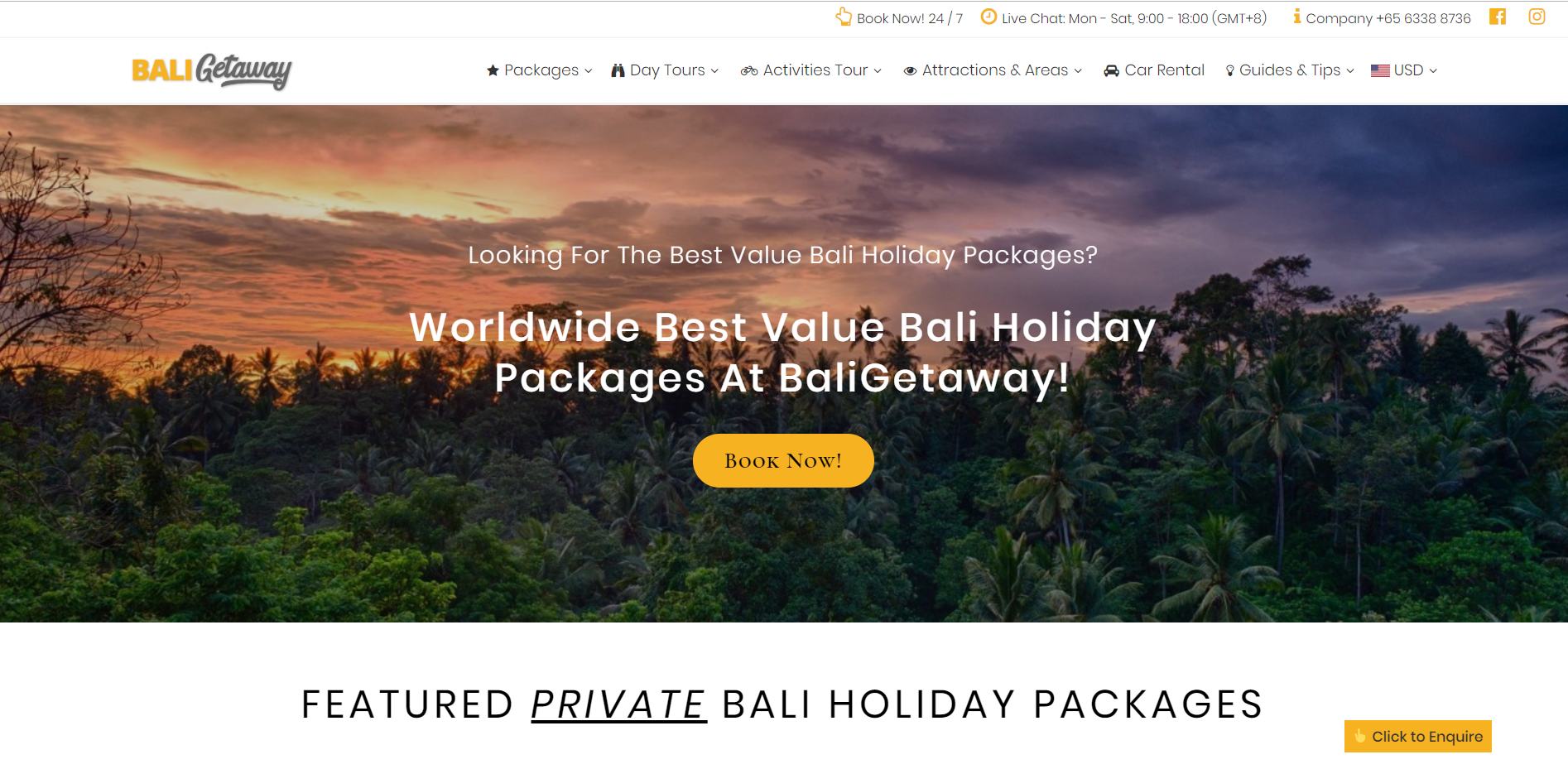 Top Bali Agent and Bali Packages - BaliGetaway.net